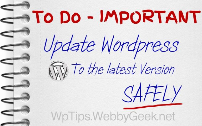 Steps to Update WordPress To The Latest Version